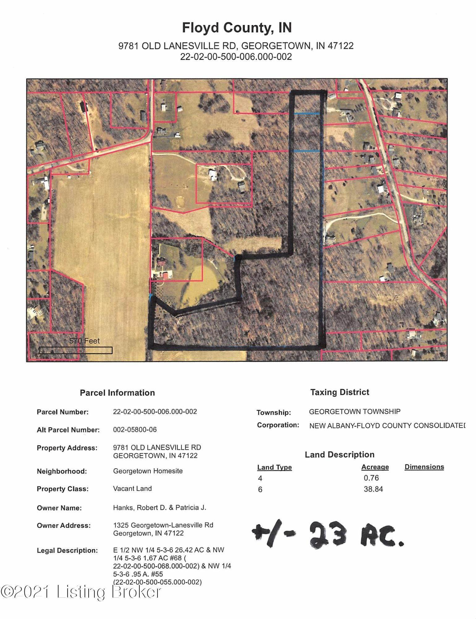 Land for Sale at 9781 Old Lanesville Georgetown, Indiana 47122 United States