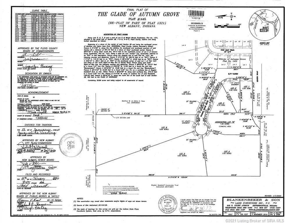 Land for Sale at Wooded Ridge (Lot #4) Drive New Albany, Indiana 47150 United States
